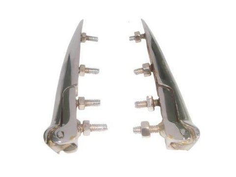 Bonnet Hinges Chrome Finish Fits Classic Vintage Morris Minor Cars available at Royal Spares
