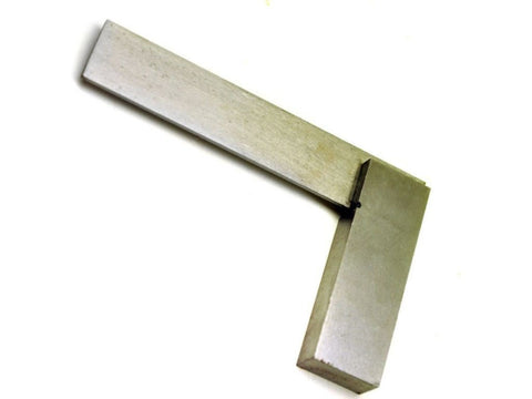 "4"" Inch Engineers Polished Steel 100mm Set Square - Tools"