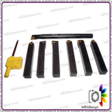 7 Pcs Indexable Tin Coated Lathe Tools Set (Includes A Boring Bar)