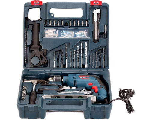 Brand New Impact Drill Bosch Gsb 13 Re + 100 Pcs Accessory Kit Professional Tool