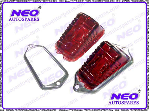 Tail Light Lens & Rim Fits Trumph TR2,Morris MG,TD,Midget,Lucas 471 Models available at Royal Spares