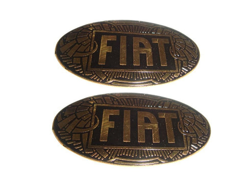Vintage Fiat 1904 Car Radiator Badge Emblem Golden Black Fits Vintage Fiat Cars available at