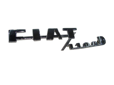 Vintage Rare Fiat 1100d Mod 103 Special Rear Emblem Chromed Fits Vintage Fiat 1100 available at