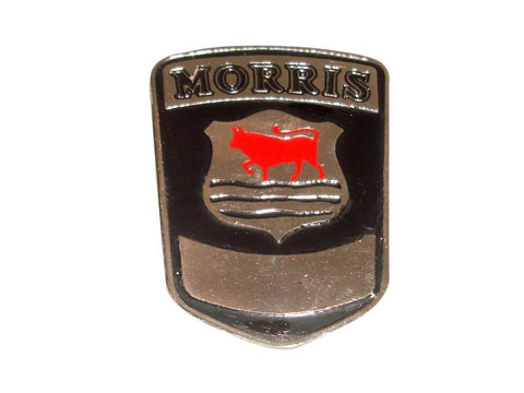 Vintage Morris Car Radiator Grill Badge Enamel Chromed Must for Restoration available at