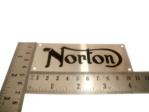"Name Plate 4.25"" X 1.75"" Fits Vintage,Unique,Norton Motorcycle available at Royal Spares"