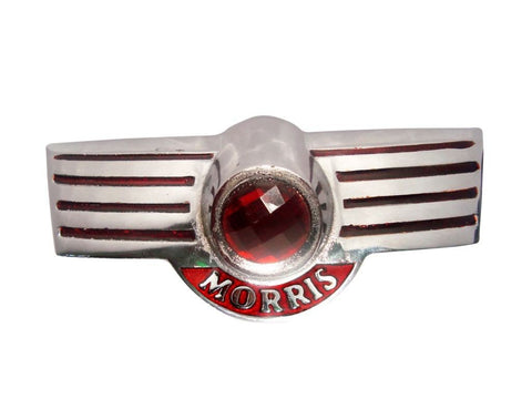 Alloy Chrome Morris Minor Script Rear Boot Badge Emblem Plated For Morris available at