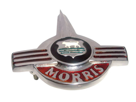 Morris Minor Bonnet, Hood, Emblem, Badge, Brand New Chrome Finish available at