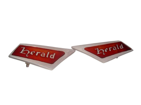 Triumph Herald Roof Pillar Badge Emblem V Rare 1961-71 Red-Chrome S available at