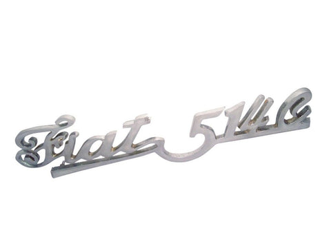 Fiat 514 C Script Chrome Plated Boot Tail Gate Badge Motif Decal available at