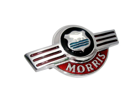 Brand New Alloy Plated Morris Minor Front Early Type Bonnet Badge available at