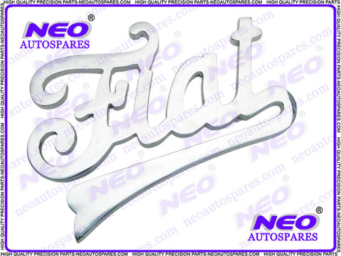 Brand New Fiat Script Brass Chrome Plated Radiator Badge / Decal 1924 To 1930