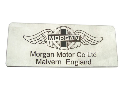 New Quality Vintage Morgan Motor Car Black Logo Plaque / Sign/Badge