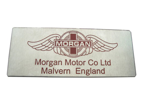 New Quality Vintage Morgan Motor Car Red Logo Plaque / Sign/Badge