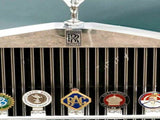 Vintage Royal Automobile Club Car Grill Brass 'RAC' With Crown Rare Car Badge