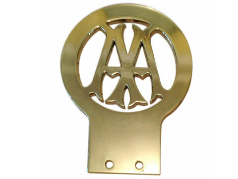 Brand New AA Car Badge 1906 - 1911 Brass Logo Emblem Decal  Style