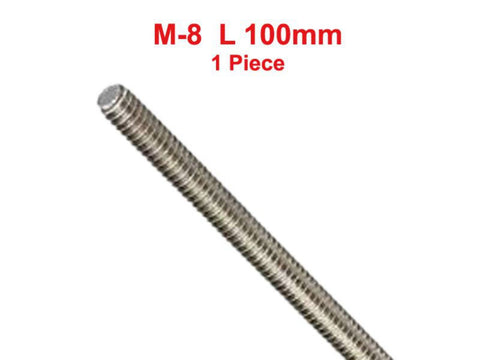 Hi Quality Stainless Steel 304 Fully A2 Threaded Rod/Bar/Studs -M8 x 100mm available at Online at Royal Spares