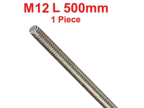 Hi Quality Stainless Steel 304 Fully A2 Threaded Rod/Bar/Studs -M12 x 500mm available at Online at Royal Spares