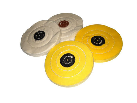 Brand New Jewelry Polishing 4 Inches Buffs Muslin White And Yellow Pack of 2 Pcs available at Online at Royal Spares