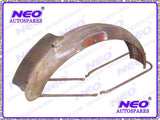 Norton 16h Style Front Mudguard With Number Plate Fits Royal Enfield 500cc Motorcycle available at Royal Spares