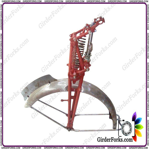 Brand New Girder/Springer Fork & Front Mudguard Assembly Fits Norton 16H Royal Enfield 500cc