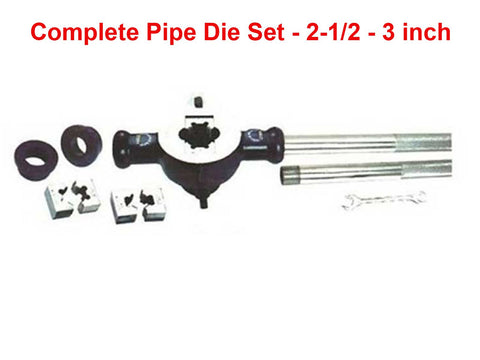 Brand New Complete Pipe Die Set For 2-1/2 - 3 inch BSP