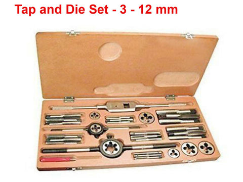 Brand New Tap and Die Set For 3 - 12 mm S.I
