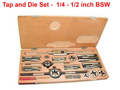 Brand New Tap and Die Set For 1/4 - 1/2 inch BSW