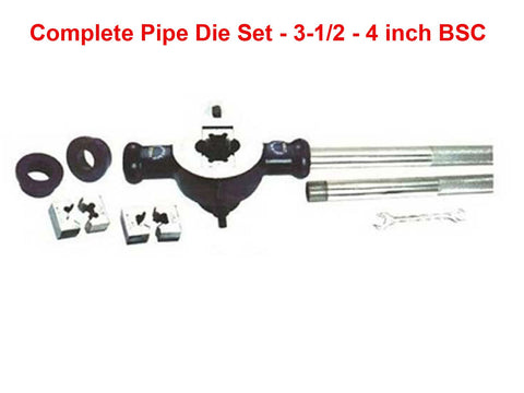 Brand New Complete Pipe Die Set For 3-1/2 - 4 inch BSC