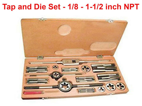 Brand New Tap and Die Set For 1/8 - 1-1/2 inch NPT