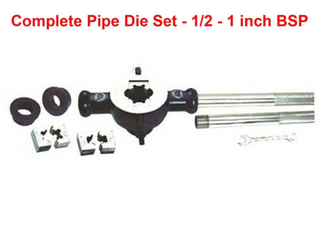 Brand New Complete Pipe Die Set For 1/2 - 1 inch BSP