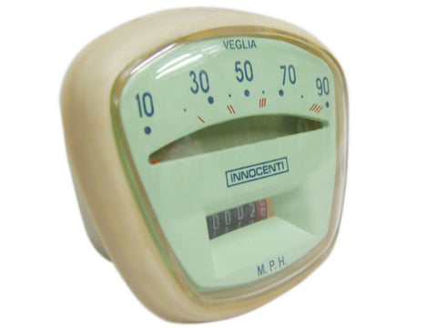 Brand New 90 MPH Speedometer With Innocenti & Veglia Logo Fits Lambretta available at Royal Spares
