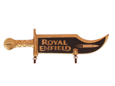 Brand New Front Mudguard Number Plate Brass Made Royal Enfield