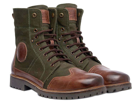 100% Genuine Royal Enfield Huntsman Boots Green Brown