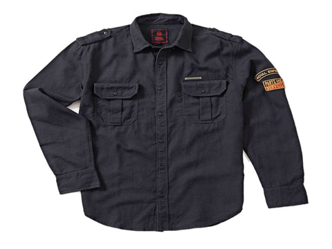 Royal Enfield Parts And Services Hexaweave Shirt Charcoal Black