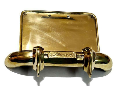 Heavy Brass Number Plate Holder & Rear Bumper - Vespa VBB Model