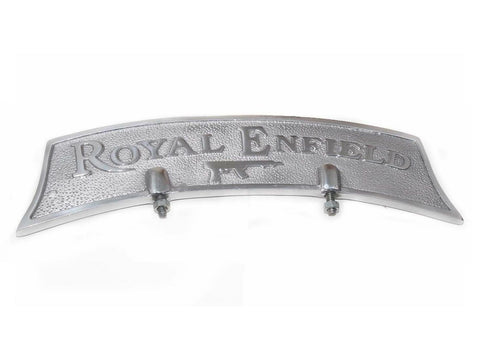 Royal Enfield Aluminium Made Front Mudguard Embossed Chrome Number Plate