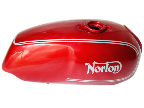 Brand New Norton Commando Roadster Red Painted With Logo Petrol Tank