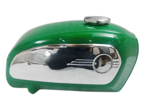 Toaster Painted Racing Green Fuel Tank With Chrome Side Plates - BMW R75 5 1972 Model