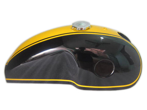 Benelli Mojave Cafe Racer Petrol Fuel Tank With Cap Black & Yellow Paint 260 360 Model