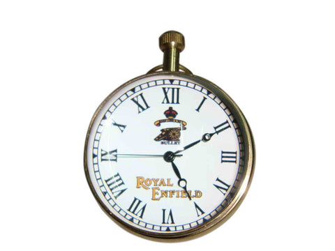 New Quality Stylish Early Brass Spherical Desk Clock Royal Enfield