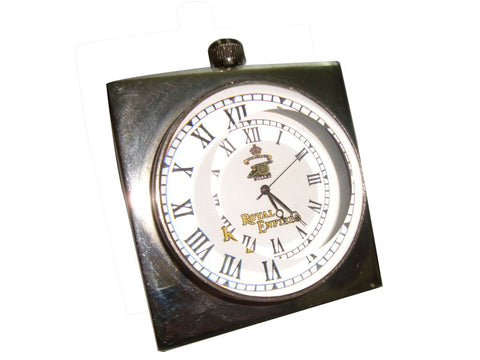 New Quality Brass Desk Clock In Chrome Finish Royal Enfield