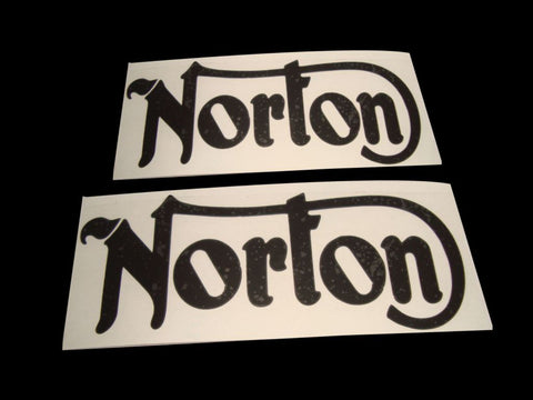 Black Petrol Tank Decal Fits Vintage Norton Commando Models available at Online at Royal Spares