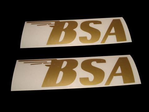 Best Quality Golden Colour Gas Tank Sticker Set Fits BSA All Motorcycle available at Online at Royal Spares