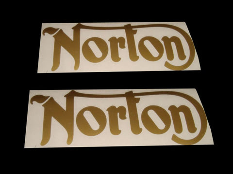 Best Quality Pair of Cut Text Stickers Fits Norton Commando/16H/ES2
