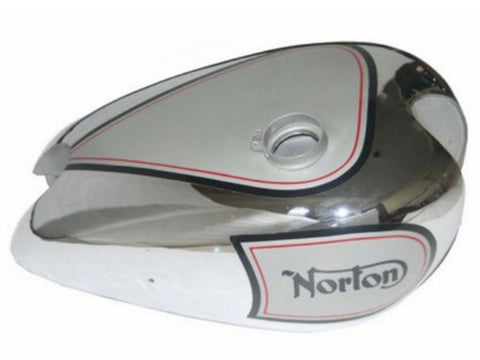 Chromed Petrol Tank Silver Painted Fits Norton 16H ES2 Motorcycles available at Online at Royal Spares