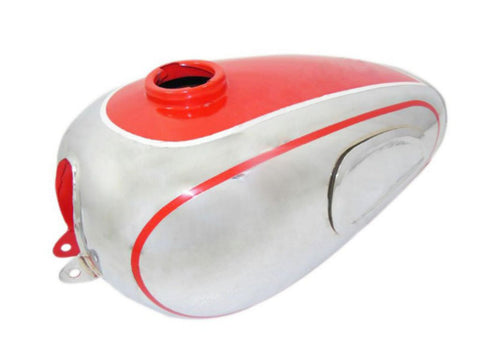 Top Quality Chromed Petrol Tank Red Painted Fits Horex Regina Bikes available at Online at Royal Spares