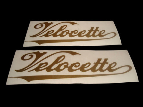 Golden Fuel Tank Decals/Stickers For Vintage Velocette Motorcycles available at Online at Royal Spares