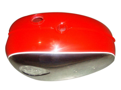 Chromed Petrol Tank Red Fits BSA A65 Thunderbolt / Lighting Motorcycles available at Online at Royal Spares