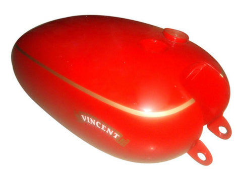 Brand New Petrol Tank Red Painted Finish Fits Vincent Motorcycles