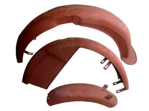 Rear Raw Steel Mudguard/Fender Set Fits Velocette MAC, MOV, KTS Models available at Online at Royal Spares